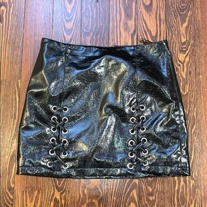 Forever 21 Black leather skirt